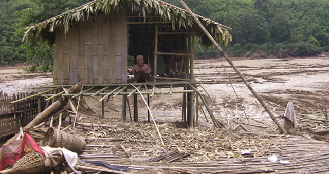 Devasted village